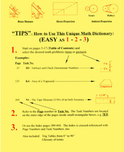How to use Chenier's Practical Math Dictionary