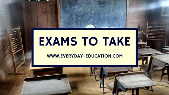 High school exams to take while homeschooling through high school.