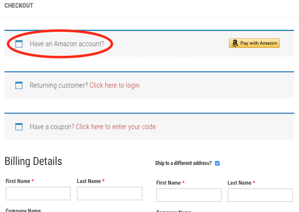 How to pay with Amazon on Everyday Education.
