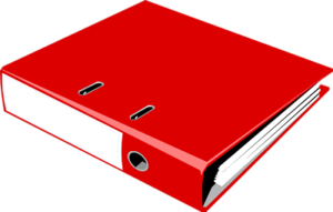 A simple three-ring-binder is part of the Peaceful Planning system.