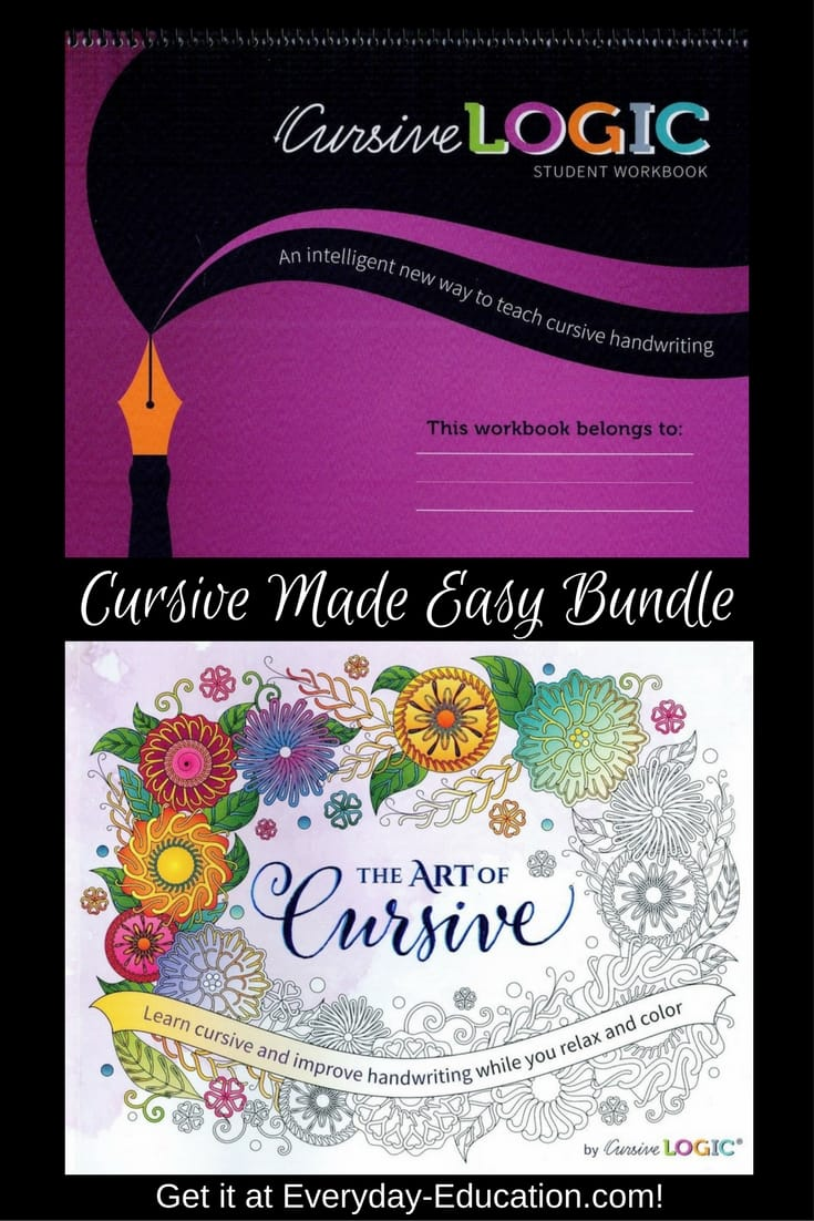 Cursive Made Easy bundle includes CursiveLogic and The Art of Cursive so your homeschooling student can learn and have fun!